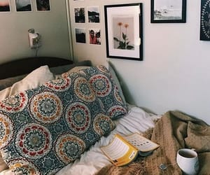 bed, bedrooms, and book image