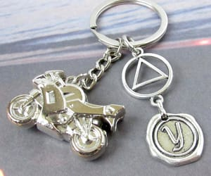 etsy, biker keychain, and sobriety gifts image