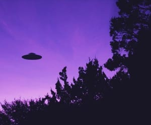 alien, purple, and sky image