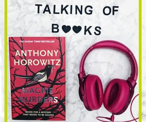 books, headphones, and red image