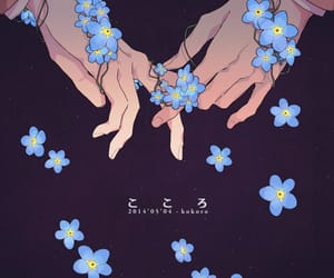 flowers, anime, and couple image