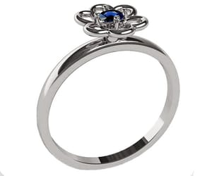 blue flower, blue ring, and flower ring image