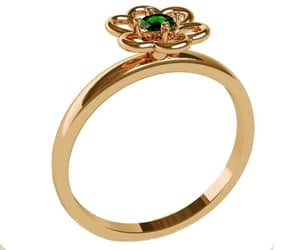 golden ring, leaves ring, and lianne jewelry image