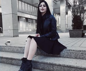 goth, pale skin, and dark aesthetic image