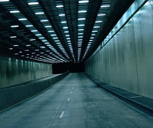 lights, tunnel, and photography image