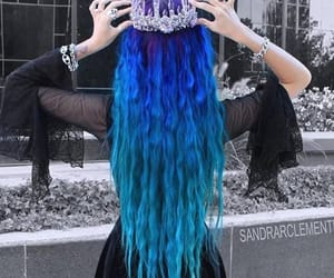 beautiful hair, hair, and colored hair image