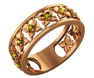 yellow flower, flower band, and eternity ring image