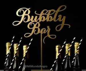 buble, champagne, and party image
