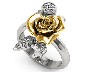 promise ring, rose flower, and flower jewelry image