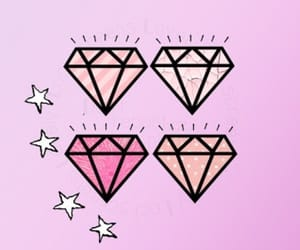 diamond, estrellas, and rosa image