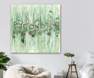 Abstract Painting, art, and green image