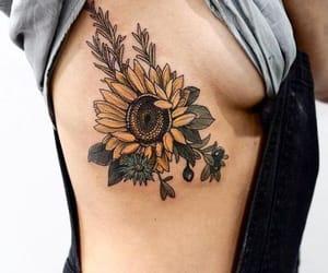 tattoo, sunflower, and flowers image
