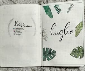 bujo, bullet journal, and luglio image