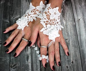 bridal, gloves, and lace image
