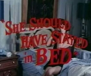 vintage, bed, and red image