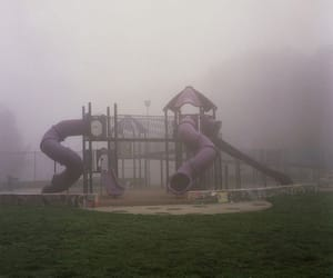 children, fog, and grunge image