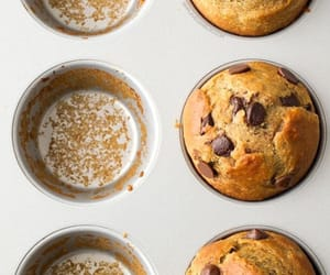 chocolate chips, food, and muffins image