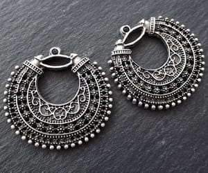 crescent, etsy, and antique silver image