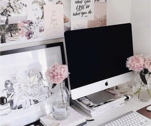 flowers, home, and desk image