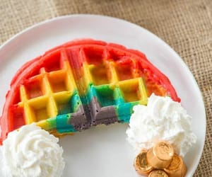 waffles, sweet, and delicious image