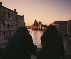 couple, travel, and venice image