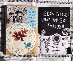 art, diary, and notebook image
