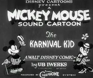 black & white, mickey mouse, and vintage image