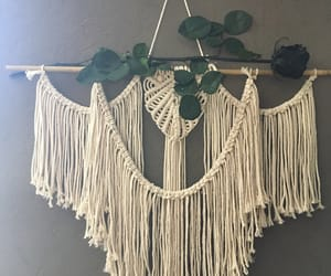 black rose, macrame, and macrame wall hanging image