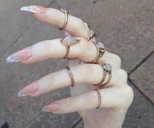 nails, rings, and tumblr image