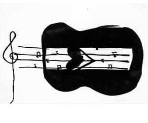 black, guitar, and heart image