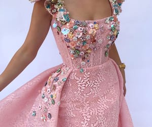 details, dress, and pink image
