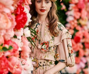 beauty, girl, and roses image
