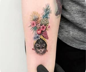 cat, colorful, and tattoo image