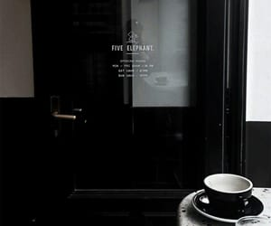 cafe, doors, and black theme image