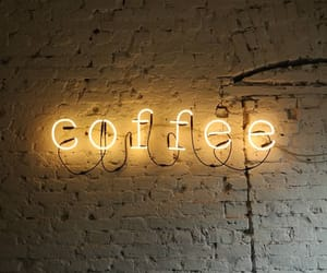 light, coffee, and neon image