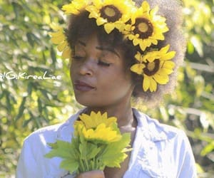 Afro, art, and flower image