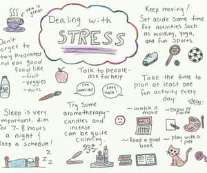 stress, college, and school image