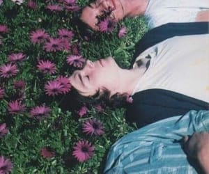 boys, flowers, and grunge image