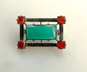 etsy, art deco jewelry, and sterling brooch image