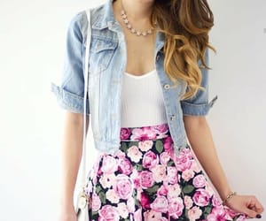 black, flores, and pink image
