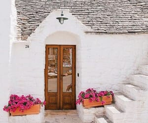 architecture, flowers, and Greece image
