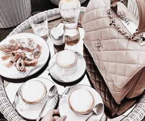 food, bag, and coffee image
