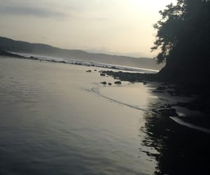 nature, silence, and ocean image