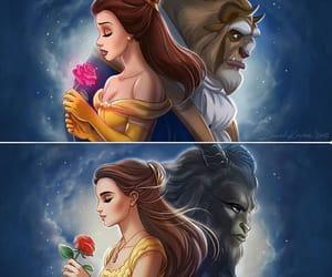 amor, bella y bestia, and princesas image