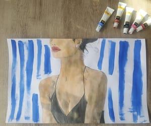 aquarelle, Bleu, and draw image