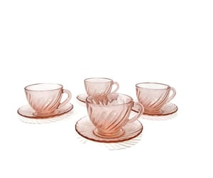 etsy, cups and saucers, and depressionglass image