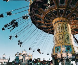 amusement park, bright, and happiness image