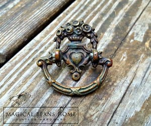 etsy, brass drawer pulls, and vintage ring pulls image