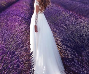 girl, dress, and wedding image