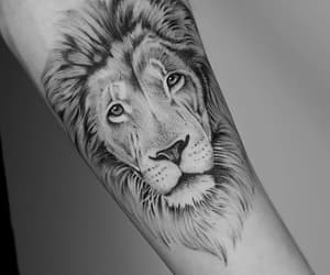 black and white, black ink, and tattoo image